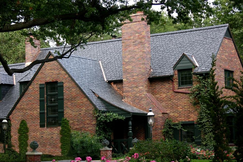 Slate black shake roof davinci roofscapes for Davinci roofscapes llc