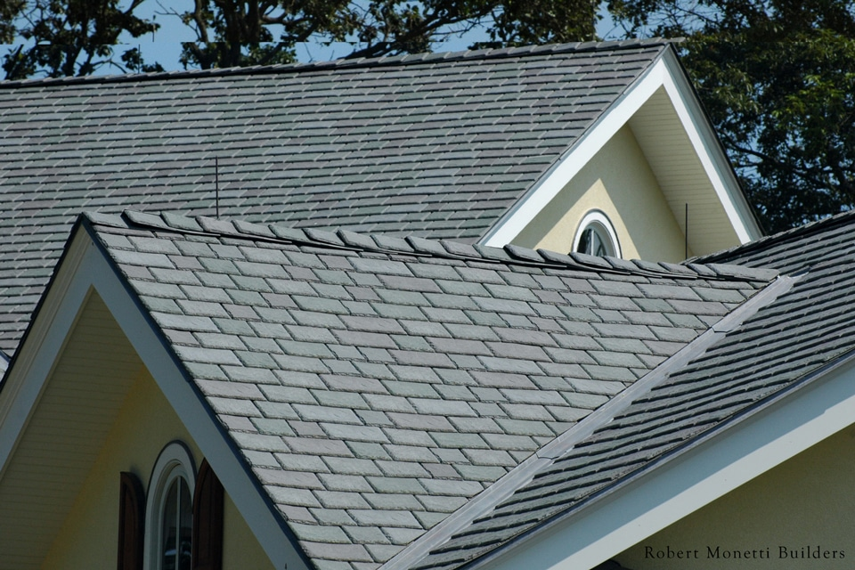 Weathered green shake roof davinci roofscapes for Davinci shake roof reviews