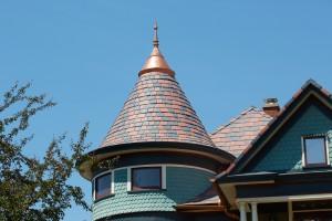 Vintage home gets custom color roof davinci roofscapes for Davinci roof