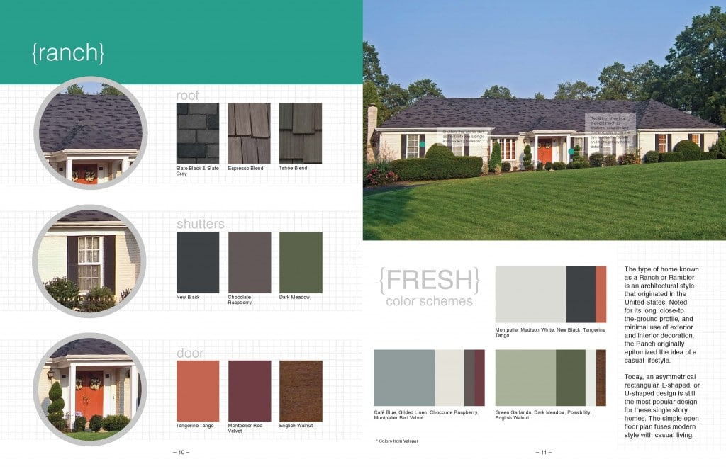 Free fresh color schemes for your home exterior online - Good color combinations for house exterior ...