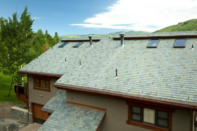 rear view davinci beaver creek blend synthetic slate tiles