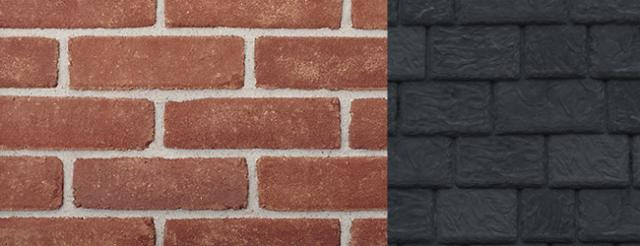 Beldin Belcrest500 Brick with DaVinci Roofscapes Slate Black Synthetic Slate