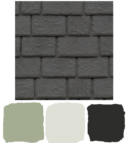 DaVinci Roofscapes Composite Slate works with a light gray home color scheme