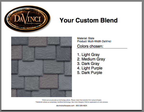 You are ready to order your sustainable roofing