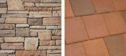 Bellaforte Sedona is the perfect color sustainable roofing for this stone