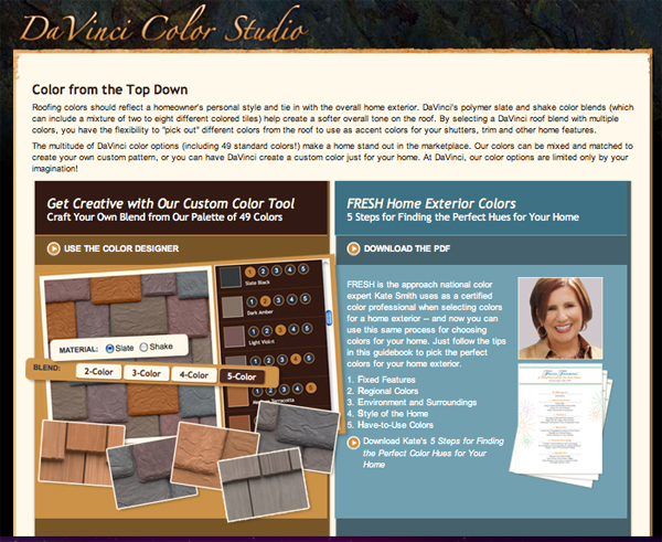 DaVinci Color Studio offers advice on selecting rubber slate roof or fake wood shake roofs