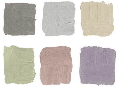 A variety of colored neutrals