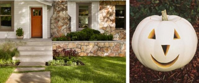 White pumpkin inspired exterior color scheme