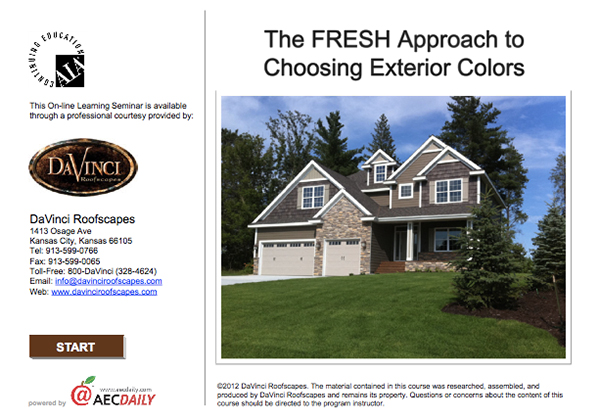 CEU course The FRESH Approach to Choosing Exterior Colors