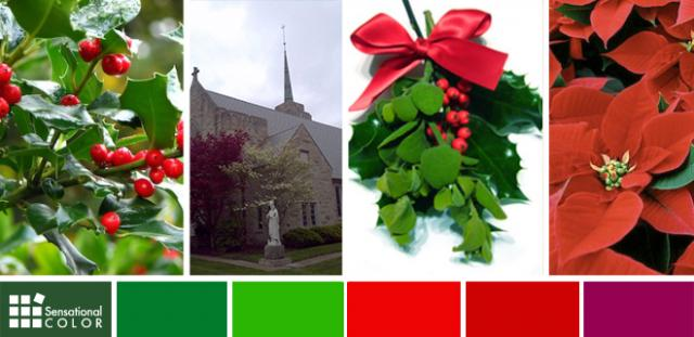 davinci imitation slate and shake roofing is perfect for churches red and green - Why Are Red And Green Christmas Colors