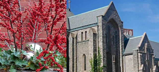 St. Clemants Churched shown here with Belleforte Slate Gray
