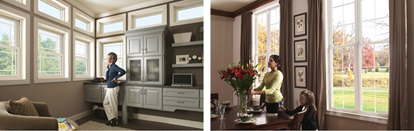 In most homes white, tan, driftwood or wood tone window frames are the most conventional and beautiful option.