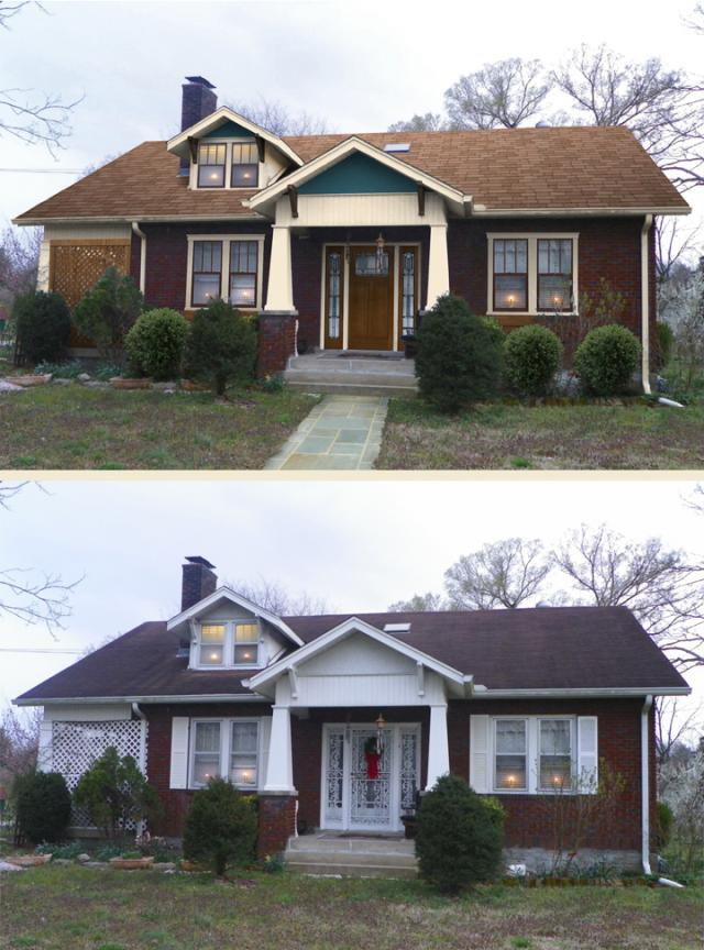 Before After Home Makeover Marquis Cayce Of Nashville Tn Shake It Up Exterior Color