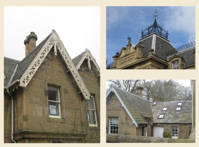 ornate scottish rooflines