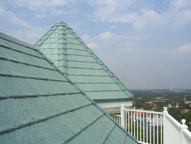 custom color Bellaforté roof for the Jupiter Ocean Grand luxury condo complex