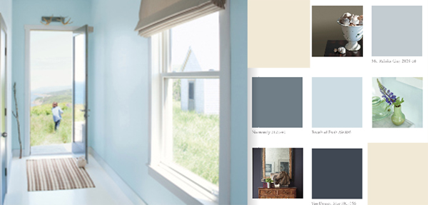 Exterior Color Trends 2014 Benjamin Moore Breath of Fresh Air