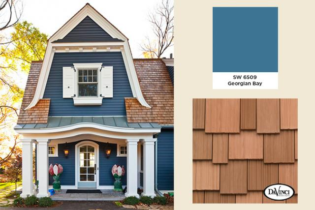 Exterior Color Trends 2014 Georgian Bay with New Cedar Shake