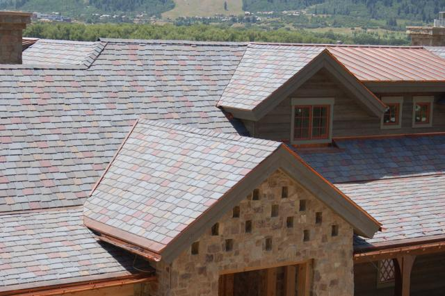 Check out polymer slate roofing options davinci roofscapes for Polymer roofing shingles