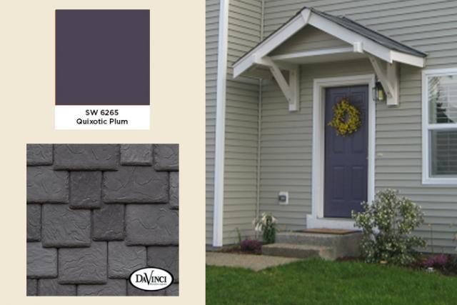 Exterior Color Trends 2103 Quixotic Plum with Castle Gray Slate