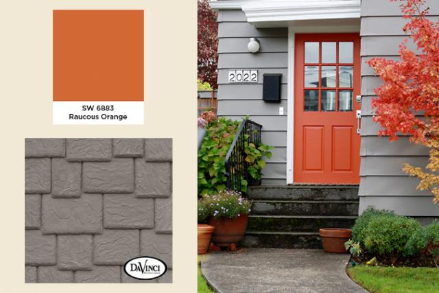2014 Exterior Color Trends Classic French Gray with Raucous Orange