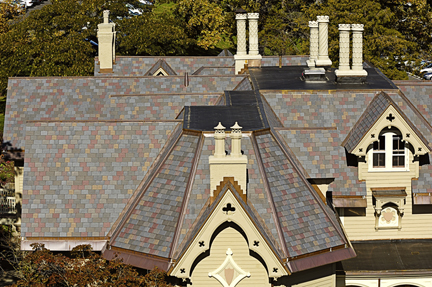 davinci roof on college campus building