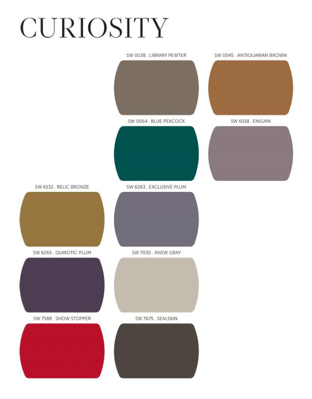 Exterior Color Trends 2014 Sherwin-Williams Curiosity Palette