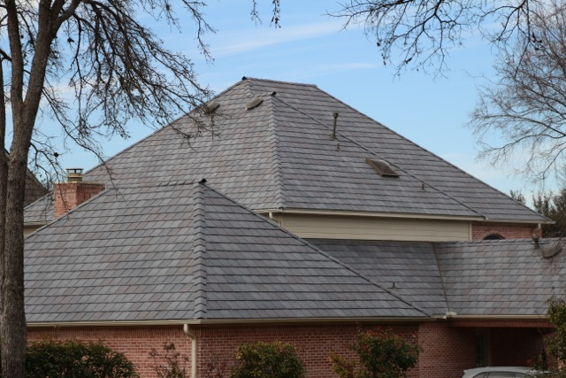 Featured project fort worth tx davinci roofscapes for Davinci slate roof cost