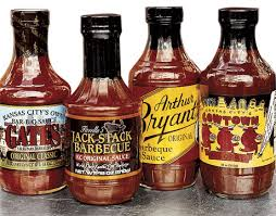 kansas city barbeque sauces including gates, jack stack, arthur bryant's and cowtown
