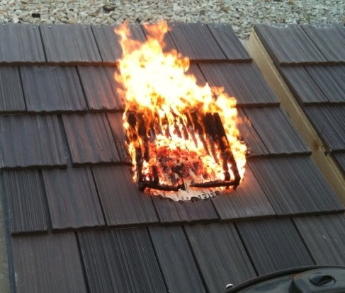 Help deter wildfire spread with davinci class a fire rated for Fire resistant roofing