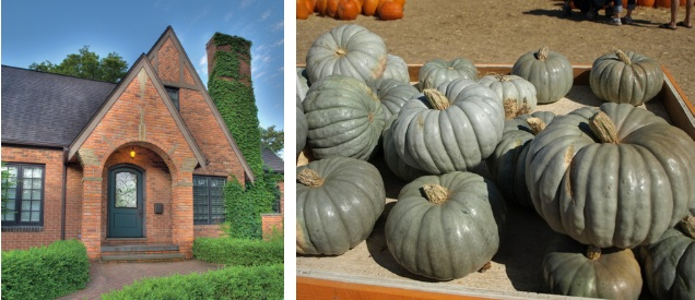 Blue Pumpkin Inspired Exterior Color Scheme