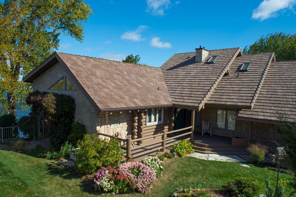 home with davinci shake tile roof
