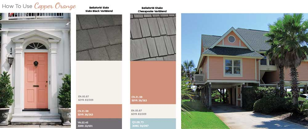How to use color of the year copper orange on your home exterior