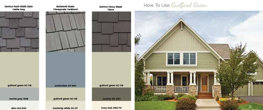 How to use Guilford Green on your exterior Benjamin Moore Color of the Year