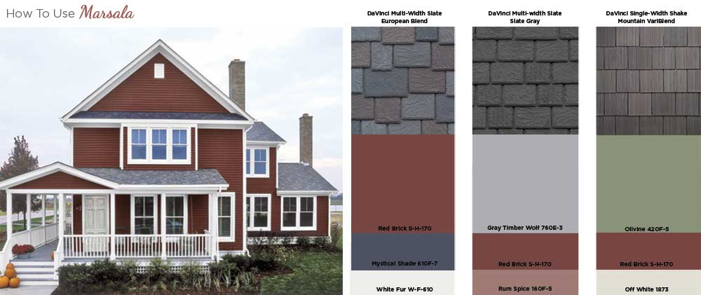 How to use Marsala on your home exterior