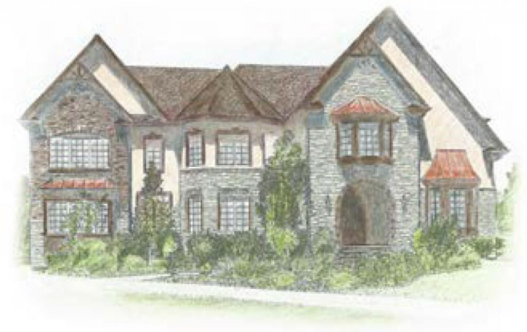 Colonial Home Drawing