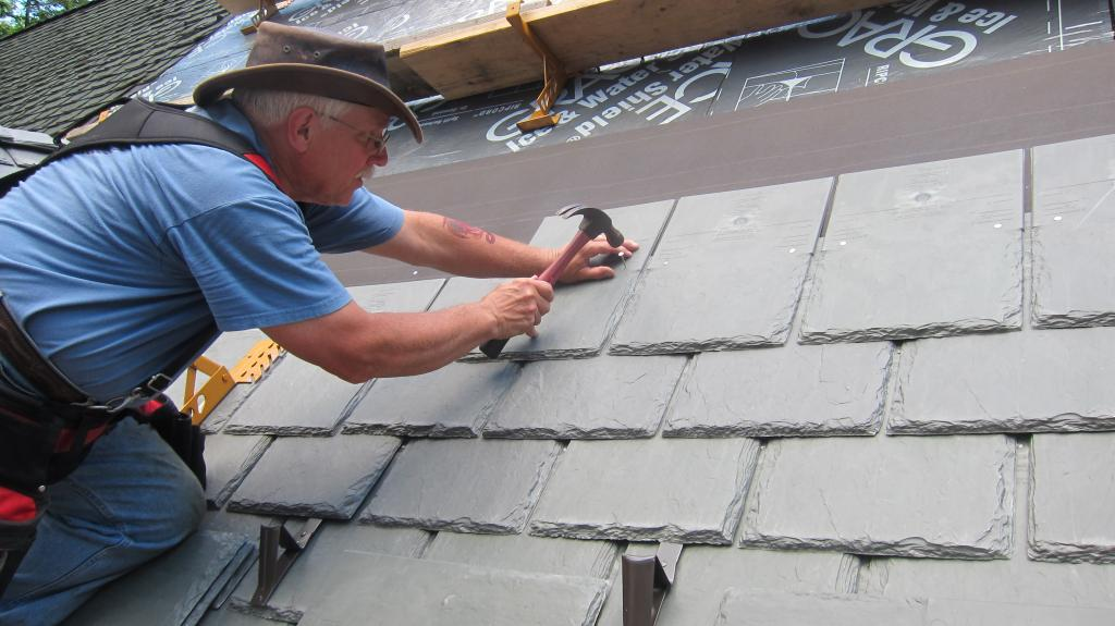Slate Roof Installation : Snow guards needed for synthetic slate roof davinci