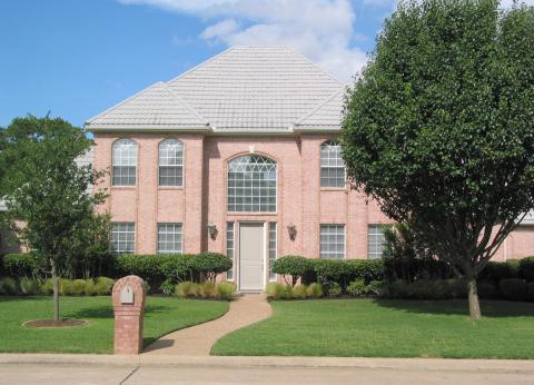 european style brownstone home