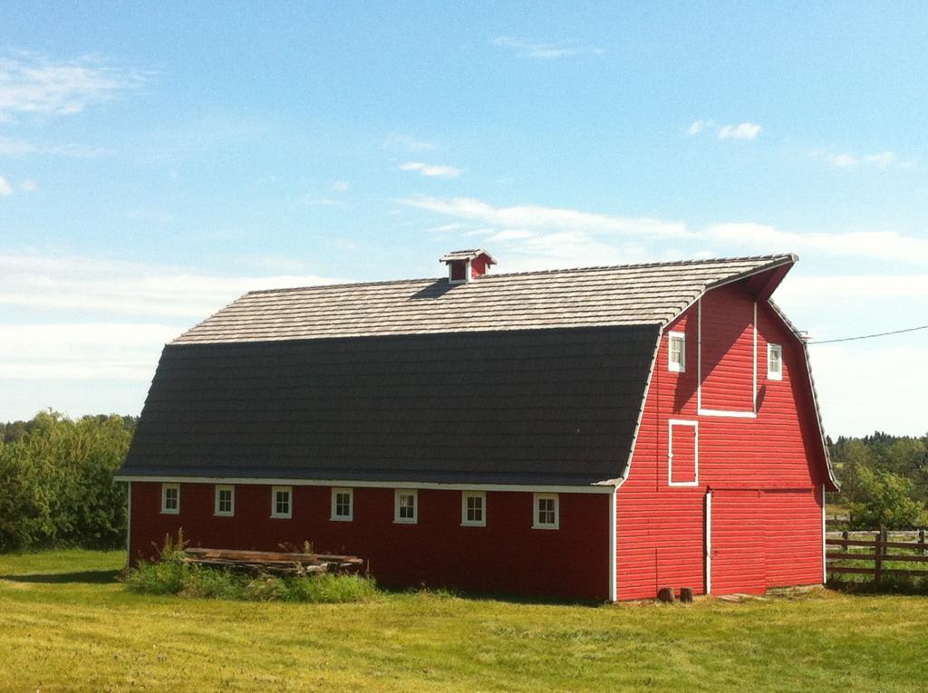 davinci polymer cedar shakes on barn renovation