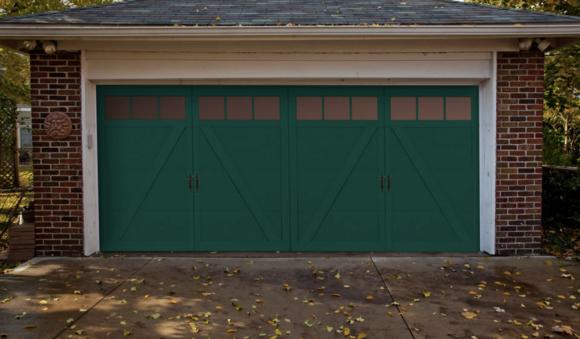 Haas Green Garage Door