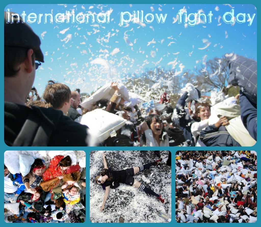 international pillow fight day graphic