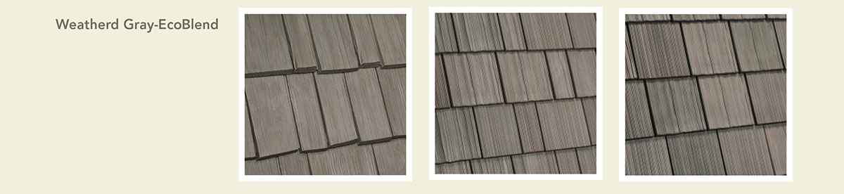 davinci castle-gray eco color blend in Light Weathered Gray, Medium Weathered Gray and Dark Weathered Gray