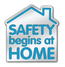 safety begins at home graphic