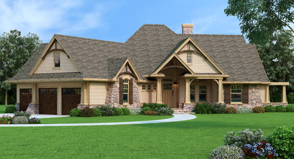House Plan 7878 – Vita di Lusso is a luxury version of the classic L