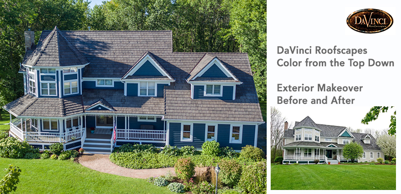 davinci roofscapes color from top down, exterior makeover before and after