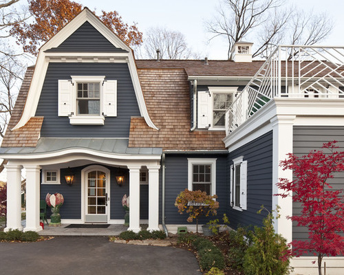 home exterior with white trim