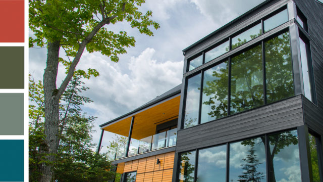 modern building showcasing a bright color trend