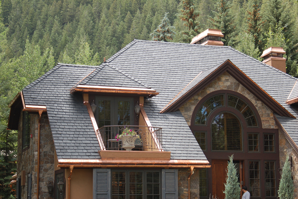 slate roofing and home exterior