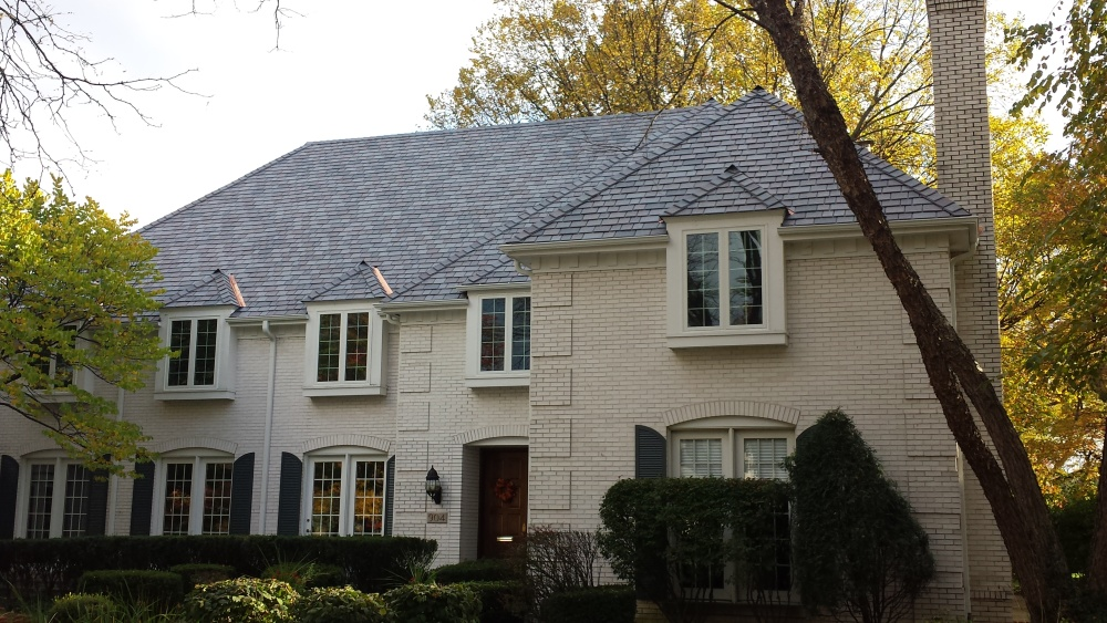 My Client Was Looking For A Synthetic Slate Roof That Preserved The  Character Of His House. He Especially Liked The Authentic Look Of The DaVinci  Slate .