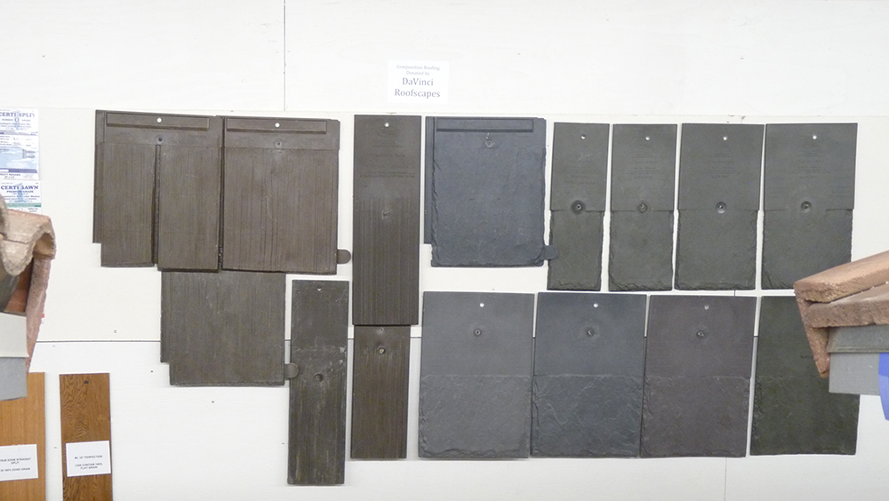 Polymer roofing tiles