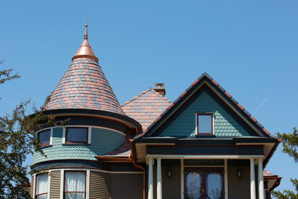 davinci roof with turrets in iowa